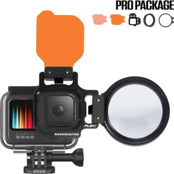 BACKSCATTER FLIP8/9 Pro Package with SHALLOW & DIVE Filters & +15 MacroMate Mini Lens for GoPro HERO 5, 6, 7, 8, 9
