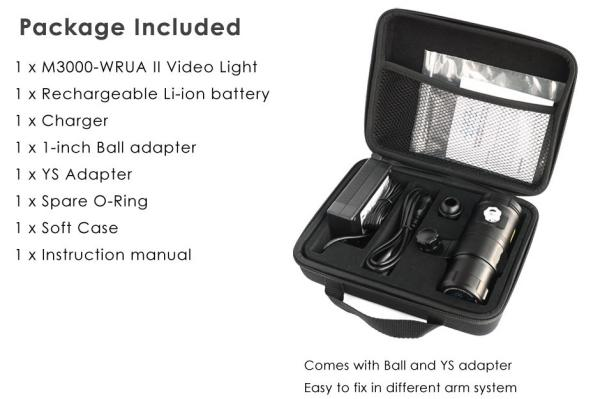 X-LIGHT M3000-WRUA II Smart Focus Video Light with Strobe Mode